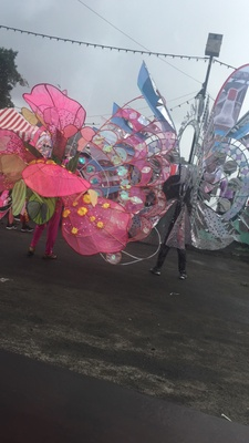 A picture of a glimpse of carnival when I went back home over the summer. It is a holiday and celebration unique not only to the country, but to the Caribbean