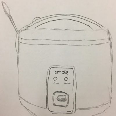 This drawing is of my home rice cooker.