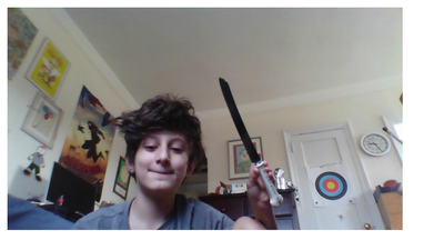 Me holding the challah knife