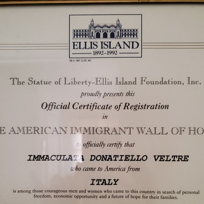Immigration certificate from Relative