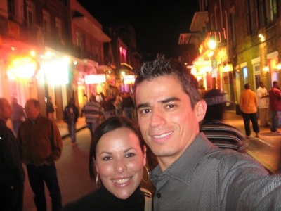 The first picture taken with my future husband on our first date exploring downtown New Orleans.