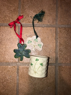 Ornaments and vase from Ireland