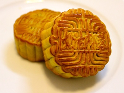 Typical lotus seed paste moon cake