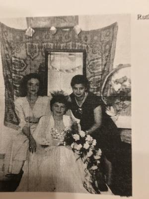 Rachel Besser - wedding day photo - 1953