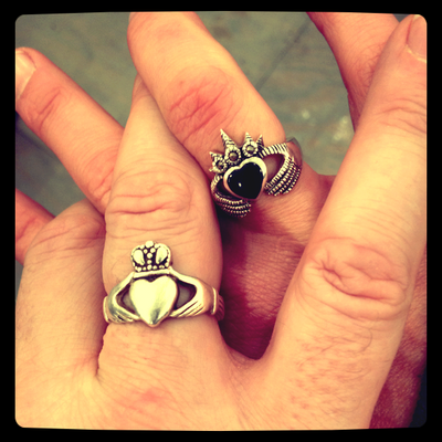Two Claddagh Bands
