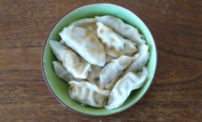 A bowl of dumplings