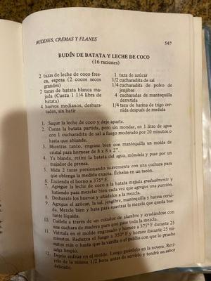 Recipe: budin de batata y leche de coco