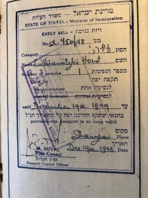 Entry into Israel, 1948