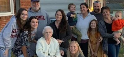 My family and I at Granny's house