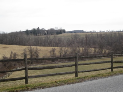 The rolling hills the Brandywine Valley in Delaware and Pennsyvania.