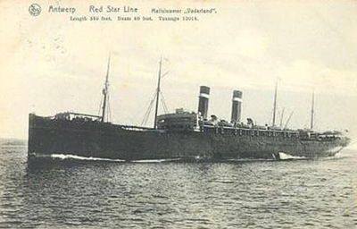 The SS Vaderland, the ship she came on
