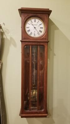 A full length view of the regulator clock