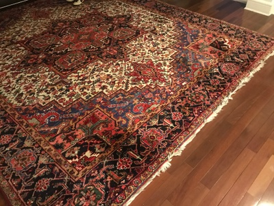 Persian Rug from Pari's former home in Iran, which is now located in her son, Herzel's living room.