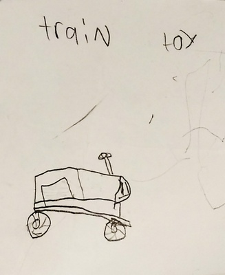 Drawing of a train toy
