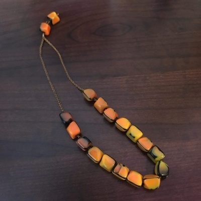 A komboloi, a beaded chain.
