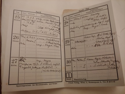 A record of my father Kurt Wellisch's first meetings with the Gestapo, April 25, 1938