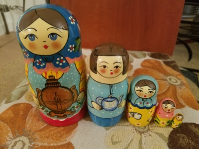 My object is a matryoshka, also known as a Russian nesting doll.