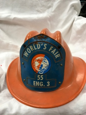 My great grandfather's firefighter helmet from the 1964 World's Fair in New York