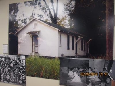Photo of the Schoolhouse on display at the MS Delta Chinese Heritage Museum.