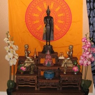 Homemade shrine of Buddha