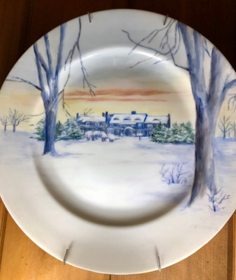 One of 7 decorative plates that belonged to my Great Grandmother