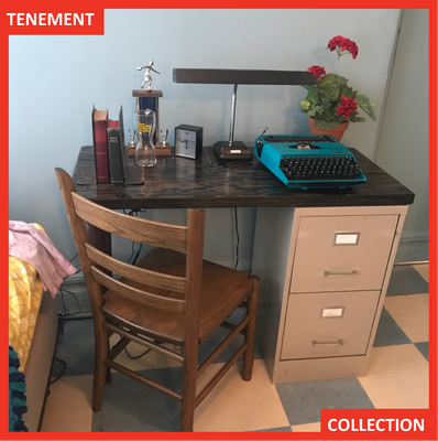 The Tenement Museum recreated the Wong family apartment, including the desk, for the Under One Roof tour.