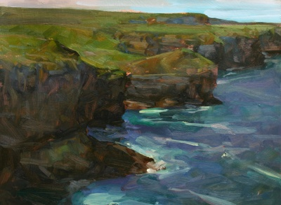 Painting of the Irish Coast