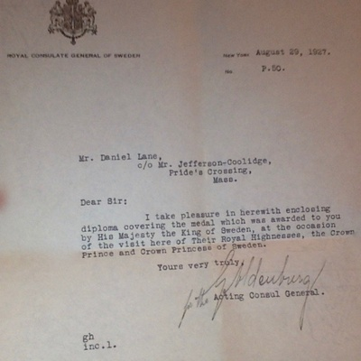 Letter my grandfather received.