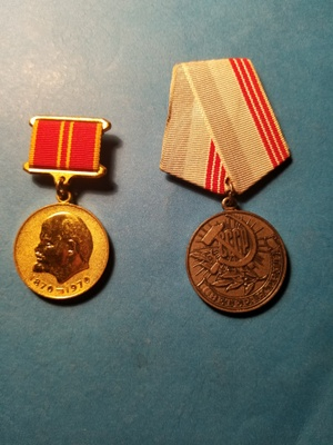 "post - war medals: ""dedicated labor"""