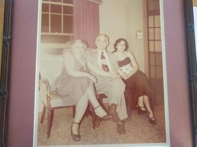 Bessie, Harry & Shirley Sokol, ca. 1950