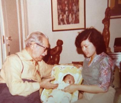 Dr. Leslie, mother, and Sohmi.