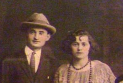 This is a photo of my great-grandpa Philip (on the left) and my great-grandma Rose (on the right).