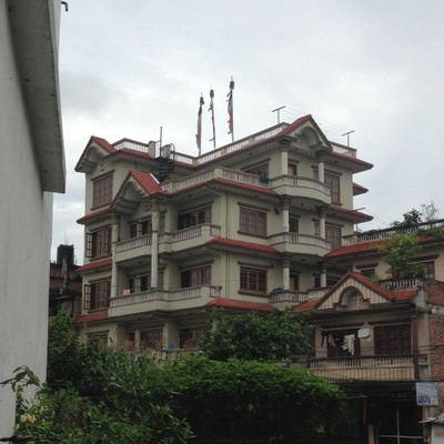 House in Kathmandu,Nepal, that Sherpa built for his family