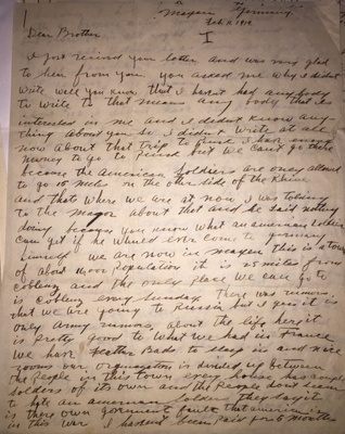 Letter from Julius in Germany to brother Saul in New York, 1919