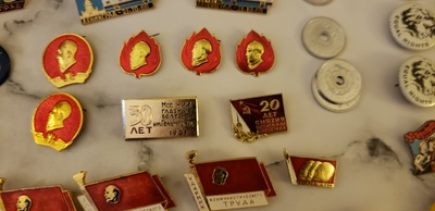 A few of my grandfather's pins