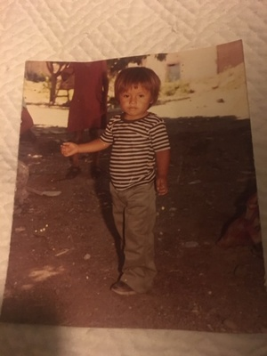 Father as a child in Mexico