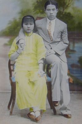 Yoen and May Quock in China in 1936