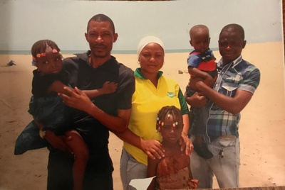 Me and my family in a Nigerian beach.