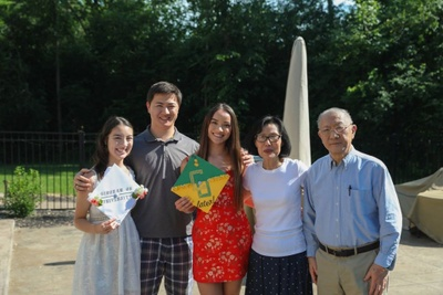 My siblings, grandparents and I at my high school graduation