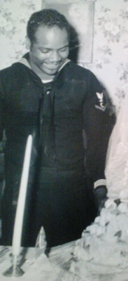 my grandpa in his navy outfit