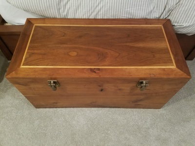 The cedar chest in my parent's room