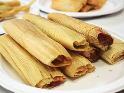It's a tamale, specifcally red sauce.
