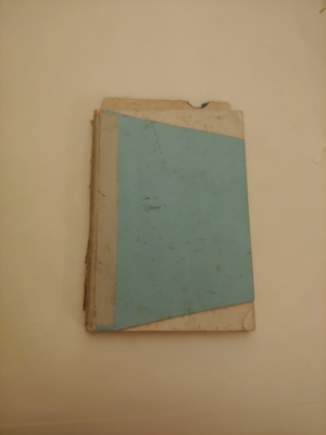 The outside of my father Kurt Wellisch's law diary from Vienna, 1938