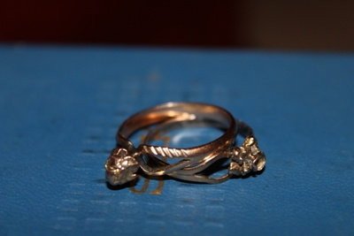 It is a gold ring came from my grandmother.