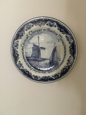 Celebratory Delftware. A wedding Gift.