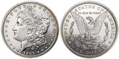 A picture of a silver dollar