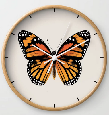 Butterly clock