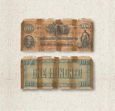 $100 - Confederate States of America