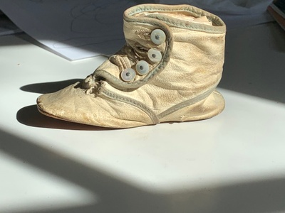 My great grandfather's baby shoe.