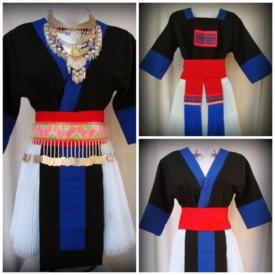 This is a girl Hmong's clothes